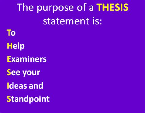 Example of superb thesis statement